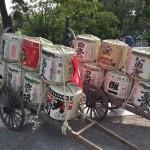Lucky Men Race in Historical Japanese SAKE Shrine