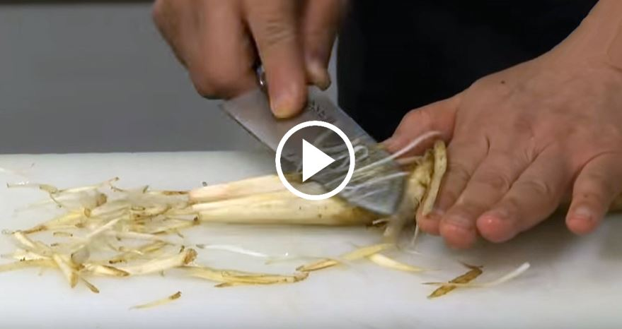 Basic technique of how to cut vegetables