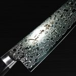 Stylish 45 Layer Damascus Mirror Finished Knives