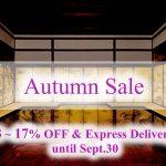 Autumn Sale until Sept.30