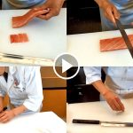 How to use Kiritsuke Yanagiba knives for Japanese Sushi