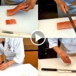How to use Kiritsuke Yanagiba knives for Japanese Sushi