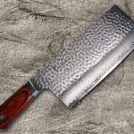 Made-in-Japan Beautiful Damascus Chinese CookingKnife (Cleaver)