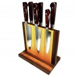 Japanese Magnetic Natural Wood Knife Stand (Knife Block)