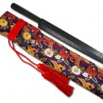 Nishiki Kimono Cloth Kitchen Knife Carry Bag with Ancient Japanese Design