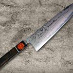 Shigeki Tanaka Aogami Blue No.2 Damascus Chef Knives with Ebony Handle