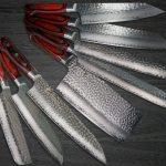 SAKAI TAKAYUKI Popular Damascus Knife SET for Perfect Gift
