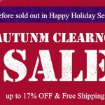 AUTUMN CLEARANCE SALE before sold out in Happy Holiday Season
