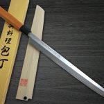 Goh Umanosuke Yoshihiro Sword-like Aonamiuchi Sakimaru-Takohiki with Saya Sheath