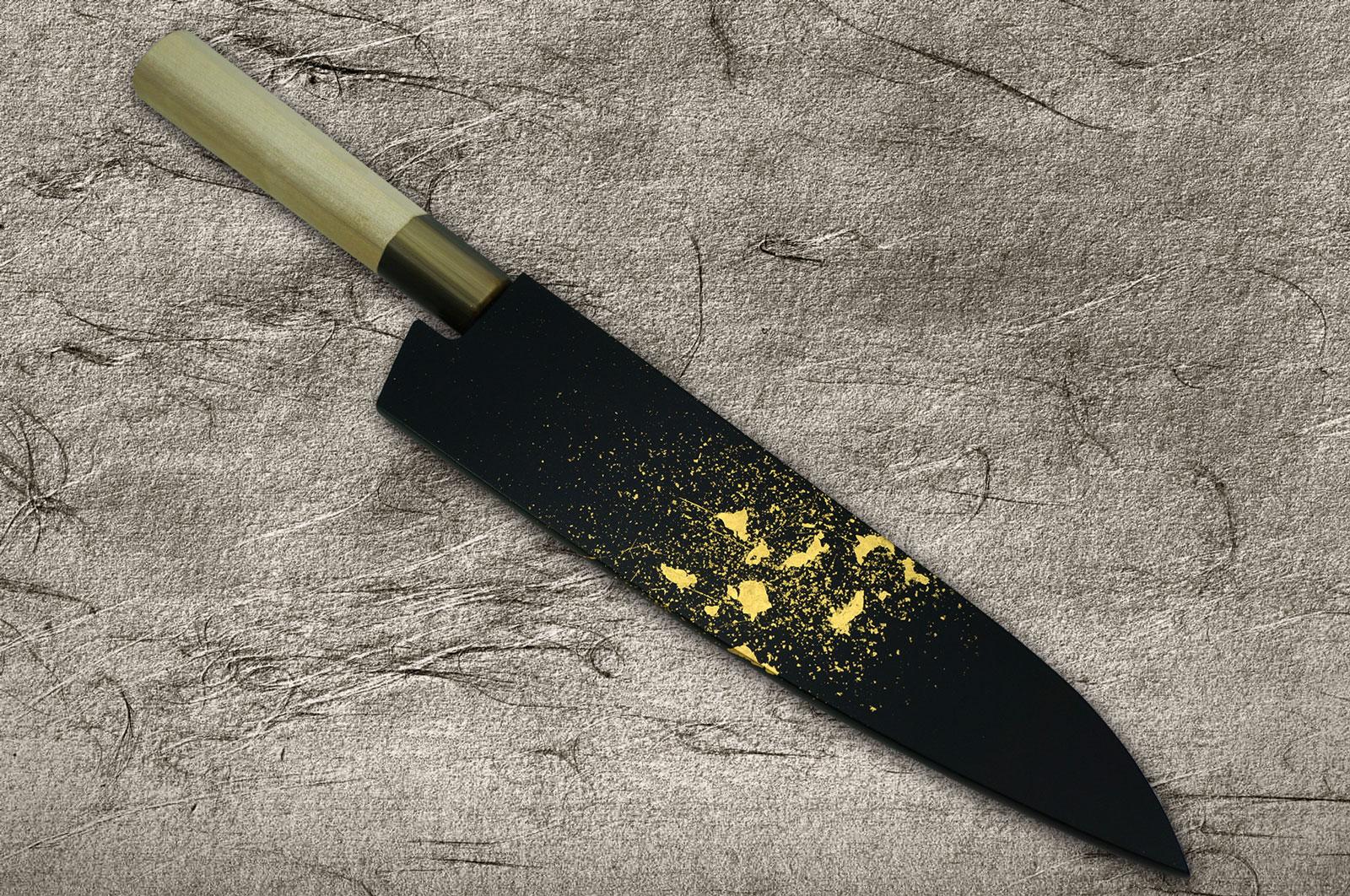 Saya Sheath with Genuine 24K Japanese Gold Leaf for Kitchen
