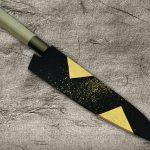 Saya Sheath with Genuine 24K Japanese Gold Leaf for Kitchen Knives
