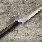 Goh Umanosuke Yoshihiro Suminagashi Damascus Blue 1 Steel Kiritsuke-Yanagiba Knife