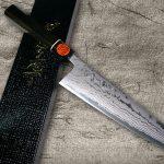 Limited Quantity, Razor-sharp Shigeki Tanaka Aogami Blue No.2 Damascus Knives with High-Status Ebony Handle