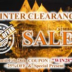 WINTER CLEARANCE SALE successfully extended with Free Shipping