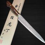 Almost the last in stock, the Legendary Shigeki Tanaka SG2 Damascus Slicers with Desert Ironwood Handle