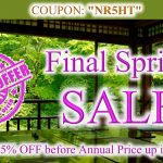 Final Spring SALE before the Annual Price Rise in May
