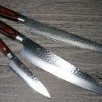 SAKAI TAKAYUKI Popular Damascus Hammered Japanese Chef's Knife SETs
