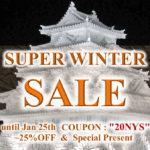 until Jan.31, SUPER WINTER SALE | 25%OFF & Special Present