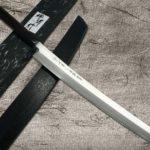 Arched & Long 390mm Sakai Takayuki ZANGETSU Sakimaru-Yanagiba Knife