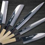 Sakai Takayuki TraditionalJapanese Style Aoniko Mirror FinishedChef Knives (Wa-Bocho)