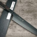 Stylish Version of Non-Stick Coating VG10 Hammered Kengata Chef Knives by Sakai Takayuki
