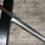 Full-Hand-Forged IWAI FUMON Damascus Kiritsuke-Yanagiba debuted !