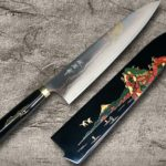 Takeshi Saji Popular Mt.FUJI Makie-Art Colored Damascus Chef Knives