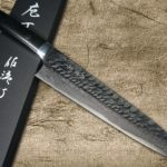 New Takeshi Saji VG10 Clear-textured Damascus Knives with Micarta Handle