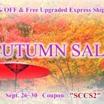 AUTUMN SALE until Sept.30 | 25%OFF &  FREE Upgraded Express Shipping