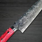 Takeshi Saji R2 Attractive RED Turquoise Handle R2 Damascus Chef's Knives