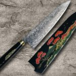 Takeshi Saji Mt.FUJI Makie-Art Mirrored-R2 Damascus Chef Knives
