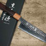 Yu Kurosaki SENKO R2 Firework-textured Chef Knives with Stylish Rosewood Handle