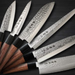 Well Designed Kanetsune KC-950 DSR-1K6 Stainless Hammered Chef's Knives