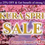 SAKURA SPRING SALE | 25%OFF & Get benefit of strong US$