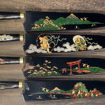 Takeshi Saji Traditional Makie-Art R2 Damascus Gyuto Knives